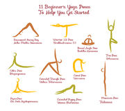 Set Of Yoga Positions for Royalty Free Stock Images