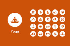 Set of yoga simple icons Royalty Free Stock Photo
