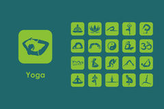 Set of yoga simple icons Royalty Free Stock Images