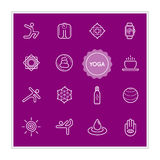 Set of Yoga Vector Illustration Elements can be used as Logo or Icon in premium quality Stock Photo
