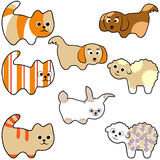 Set of young animals Stock Image