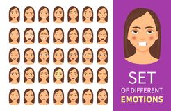 Set of different emotions Stock Photos