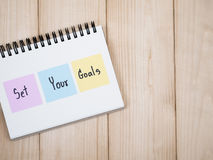 Set your goals 1 Stock Photo
