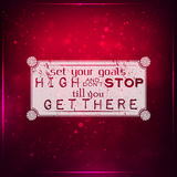 Set your goals high Stock Image
