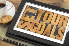 Set your goals on a tablet Stock Photos