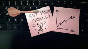 Set your goals work smarter Stock Photo