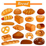 Set of yummy assorted Bread and Bakery Food item Stock Image