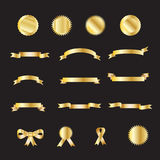 Set złociści luksusowi faborki ilustracja wektor