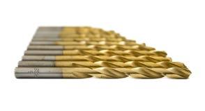 Set złoci świderów kawałki Fotografia Royalty Free