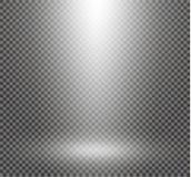 Set złoci rozjarzeni światło skutki odizolowywający na przejrzystym tle Słońce błysk z promieniami i światłem reflektorów Jarzeni ilustracja wektor