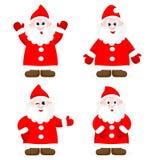 Set z Święty Mikołaj przedstawieniem Fotografia Royalty Free