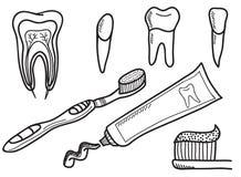 Set zębu target325_0_ ikony Obrazy Stock