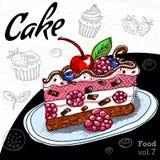Set z deserami torty, babeczka Zdjęcia Stock