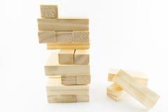 Set z drewnianymi blokami Obraz Stock