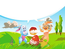 Set z Easter królikami Obraz Stock