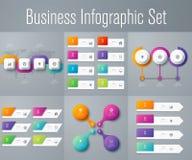 Set z infographics Fotografia Royalty Free