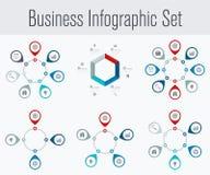 Set z infographics Obraz Stock