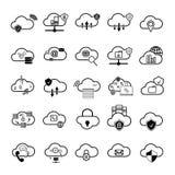 Set z internet chmury ikonami Obraz Royalty Free
