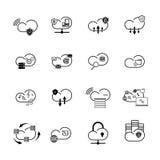 Set z internet chmury ikonami Obraz Stock