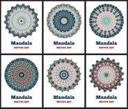 Set z kolorów mandalas Obrazy Stock