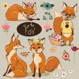 Set z kreskówką Fox royalty ilustracja