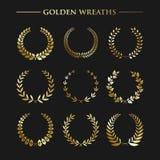 Set złoci wianki Fotografia Royalty Free