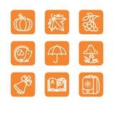 Set z odznakami - jesień Zdjęcia Royalty Free