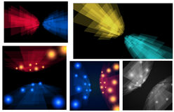Set z perspektywicznymi lampasami Pięć sztandarów dla twój projekta Zdjęcie Stock
