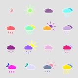 Set z pogodowymi ikonami Zdjęcie Stock