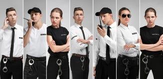 Set z pracownikami ochrony fotografia stock