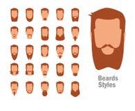 Set z różnorodnymi typ brody ilustracji