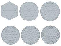 Set z sferami Obrazy Royalty Free