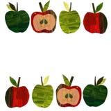 Set z a za papierowych jab?kach ilustracja wektor