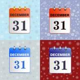 Set łza kalendarze Fotografia Stock