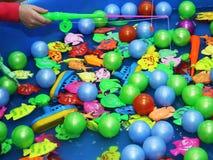 Set zabawka łowi w bassin obraz stock