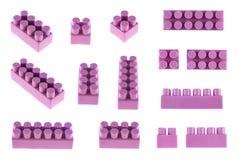 Set zabawkarscy budowa bloki odizolowywający zdjęcie royalty free