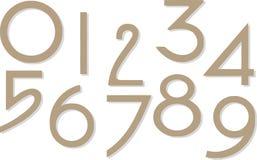 Set Zahlen trennte sich auf Weiß Lizenzfreies Stockfoto
