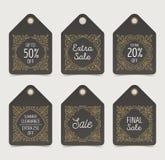 Set zawijas sprzedaż oznacza lub etykietki royalty ilustracja