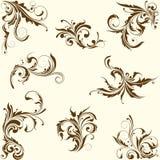 Set zawijasa kwiecisty ornament royalty ilustracja