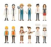 Set zawodów charaktery Obrazy Stock