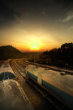 Set zbiorniki z oleju i paliwa transportem Fotografia Stock