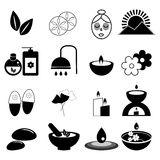 Set zdroju i masażu ikony Obrazy Royalty Free