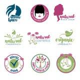 Set zdrowie i piękna odznaki Zdjęcie Stock