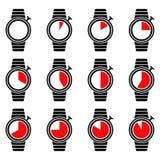 Set zegar wiszącej ozdoby i sieci ikony. Wektor. Fotografia Royalty Free