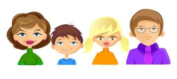 Set Zeichen auf Familienmitgliedern einschließlich Motte Lizenzfreie Stockbilder
