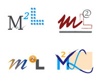 Set Zeichen-Ikonen M und L Lizenzfreies Stockbild