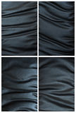 Set zerknitterte schwarze lederne Beschaffenheit Stockfoto