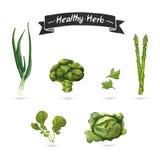 Set ziele dla jedzenia w akwarela stylu Ilustracja Wektor