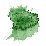 Set zielona farba, atrament, grunge, brudni muśnięć uderzenia Fotografia Royalty Free