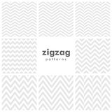 Set of zigzag and herringbone seamless patterns Royalty Free Stock Photos